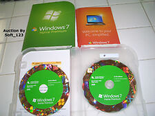 Microsoft Windows 7 Home Premium Full 32 Bit & 64 Bit DVD MS WIN=NEW RETAIL BOX=