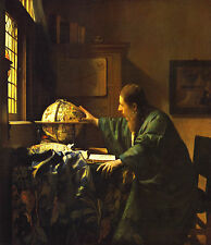 "JOHANNES VERMEER :: THE ASTRONOMER : ASTRONOMY : DELFT 24"" CANVAS FINE ART PRINT"