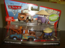 Disney---Cars 2---Race Team Mater & Zen Master Pitty---Exclusive---Diecast--2010