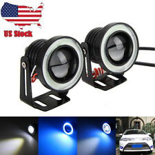 2x 30W Car 2.5 inch COB LED Driving Fog Lamp Work Light W/ Halo Angel Eye Rings