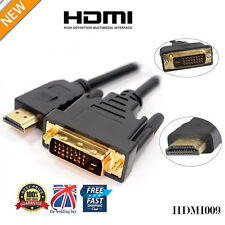 1.5M GOLD HDMI TO DVI CABLE V1.3 VIDEO HDTV LEAD 1080P HD HDTV PC PS3 XBOX /009