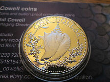 Bahama islas Reina Elizabeth Ii De 1974 1 dólar.800 Plata moneda de prueba Bahamas