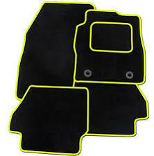 Hyundai Veloster 2011  ONWARDS TAILORED CAR FLOOR MATS- BLACK WITH YELLOW TRIM
