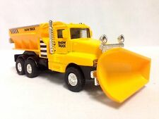"Snow Plow Salt Truck 6"" Diecast Metal With Swivel Plow Toy Boys, Girls ,Yellow"