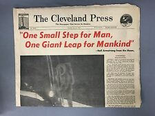 Cleveland Press - Neil Armstrong From The Moon - July 21 1969 - FULL NEWSPAPER