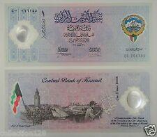 Kuwait Polymer Banknote 1 Dinar Commemorative 2001 UNC