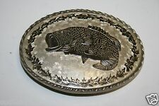 WOW Unique Minty Vintage Koi Japanese Fish Lucky Diamond Cut Metal Belt Buckle