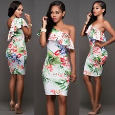 New floral printed bodycon mini dress club party summer wear size UK 8-10