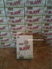 NEW Sealed BOX of 24 RAW ORGANIC ROLLS Natural Hemp Cigarette rolling paper
