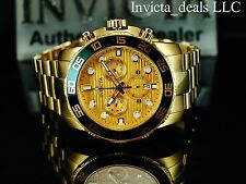 Invicta Men's 50mm Pro Diver Swiss Z60 Chronograph Gold Dial Gold IP SS Watch