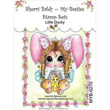 NEW My-Besties Clear Acrylic cling Rubber Stamp LITTLE DUCKY GIRL  Free US ship