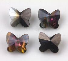 Lots 10/20Pcs Crystal Glass Butterfly Shape Loose Charms Spacer Beads 8x5mm