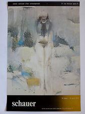 Otto SCHAUER Affiche originale C. N. d'Art Contemporain 1972 Stuttgart érotisme