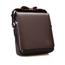 New Men's Genuine Leather Handbag Brown Briefcase Crossbody Shoulder Bag