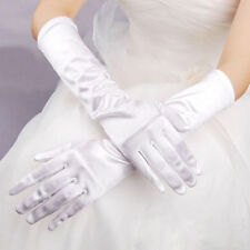 Fashion Satin Long Gloves Opera Wedding Bridal Evening Party Costume Gloves W