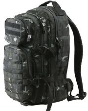 KOMBAT 28 Litre MOLLE Black BTP Camo Assault Grab Pack RUCKSACK Airsoft Tactical