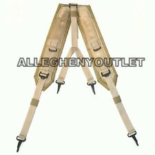 US Military Desert Tan Y Style LC-2 ALICE Belt Suspenders Y-SUSPENDERS NEW