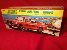 "Vintage NOS 1960s ""Made In Japan"" Bandai Battery Operated 1965 Tin Mustang Coupe"
