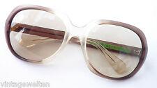 Rarität trueVintage Sonnenbrille Mineralgläser extragroß Acetat GR: L Omabrille