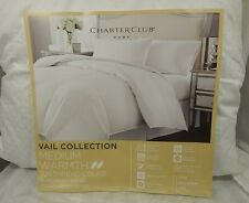 Charter Club Vail Level 3 Medium Warmth Damask FULL / QUEEN Down Comforter