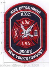 New York City NY Fire Dept Engine 96 Ladder 54 Patch v5