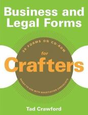 BUSINESS AND LEGAL FORMS FOR CRAFTERS - TAD CRAWFORD (PAPERBACK) NEW