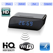 720P HD 160º WIFI Spy Clock Night Vision Hidden Cam DV Camera DVR Camcorder