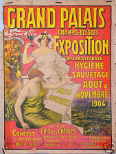 GRAND PALAIS EXPOSITION INTERNATIONALE HYGIENE SAUVETAGE ARTS INDUSTRIELS 1904