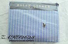 BNWT RALPH LAUREN BLUE  WIDE STRIPE OXFORD DOUBLE DUVET  SIZE 79''x 79'' RRP 185
