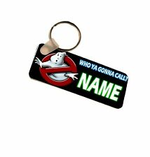 Ghostbusters Personalised Number Plate Style Fiberglass Plastic Keyring Bag Tag