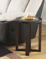 Ashley Furniture Round End Table Marion Dark Brown T477-6 Table NEW