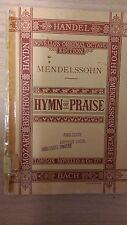 Mendelssohn: Hymn Of Praise: Music Score (F3)