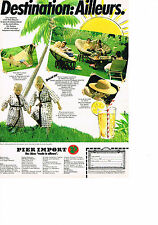PUBLICITE ADVERTISING  1980   PIER  IMPORT  mobilier Jardin