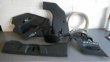 Fiat 500 POP Dashboard Cock Pit Panels & Interior Cowling Vents Black/Grey 2010