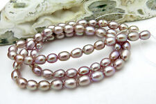 EXQUISITE NEW FRESHWATER AAA+ RARE NATURAL DEEPEST COLORS, FULL PEARL STRAND 16""