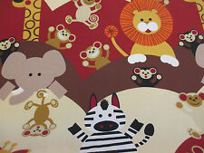 """Cheeky Monkey""  Printed 100% Cotton Panama Curtain Fabric. By Prestigious."