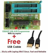 USBASP AVR Programmer with Acceptor,FuseBit Resetting Function,ATmega8,168,328