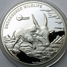 CONGO DEMOCRATIC REPUBLIC 10 FRANCS 2007 WILDLIFE ANTELOPE PROOF COIN 40mm