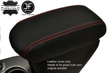 RED STITCH ARMREST LEATHER COVER FITS FIAT 500X 500 X  2014-2017