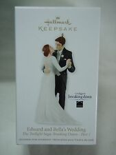 2012 Hallmark Keepsake Ornament Edward and Bella Wedding Twilight