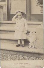 VINTAGE PHOTO OF A TODDLER PRINCE HENRY OF WALES IN SAILOR UNIFORM W/ YOUNG DOG