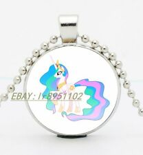 My Little Pony Nicole Oliver Cabochon Glass Tibet Silver Chain Pendant Necklace