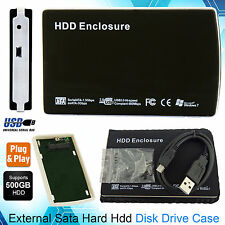 External 2.5 Sata to USB 2.0 Hard Drive Caddy HDD Enclosure Case Laptop and PC