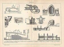 A6239 Ferro - Stampa Antica del 1926 - Incisione