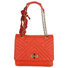 Lanvin Happy Medium LambskinShoulder Bag - Bright Orange
