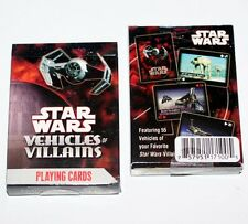 STAR WARS Sci-Fi Movie Lucas Films VEHICLES of VILLAINS Deck PLAYING CARDS New