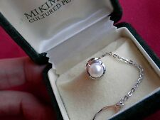 Mikimoto Sterling Silver Akoya High Quality Pearl Tie Tack