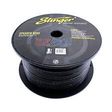 Stinger SPW516BK Audio Speaker Wire 16 Gauge Cable 500 ft Spool Roll Black
