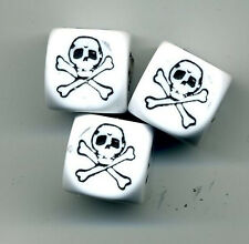 Dice Control Knobs SKULL for Brian Setzer Gretsch Electric Guitar Volume Tone