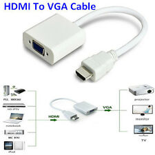 HDMI to VGA Converter Adapter Cable With Power converter A009P for Tata sky ps3